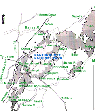 Map of Ranthambhore National Park 768x512